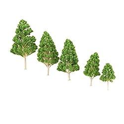 Imported 5pcs Green Model Trees 1:75-1:200