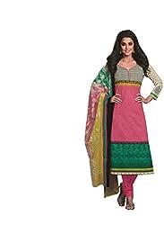 Design Willa Cotton Dress Material Saree (DW0302)