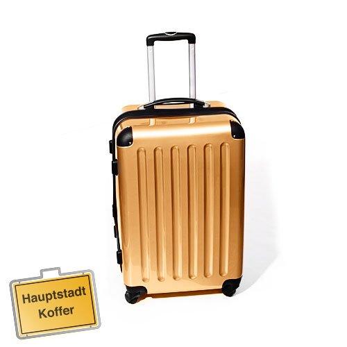 Hartschalen Koffer Champagner Hochglanz max.45