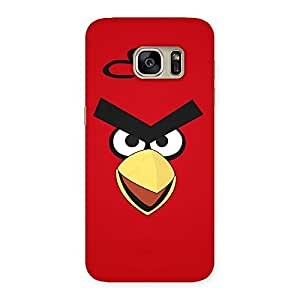Enticing Red Bird Yellow Beak Back Case Cover for Galaxy S7