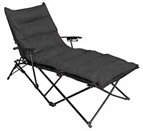 Indoor Outdoor Folding Chaise Lounge Chair With Microsuede Seat Cover Black Sale Ankfldhz