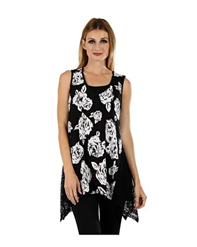 Lily Women's Floral Crochet Tunic
