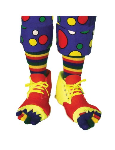 Morris Costumes CLOWN SHOES AND TOE SOCK SET