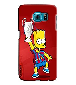 Omnam Cartoon Holding Football Cup Printed Designer Back Cover Case For Sumsang Galaxy S7 EDGE