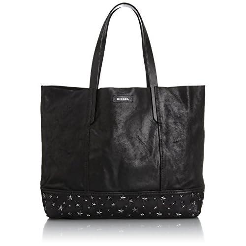 [ディーゼル] DIESEL レディース トートバッグ STARS'N EYESYUMA STARS - shoulder bag X02901P04010072UNI P0401T8013 (ブラック/)