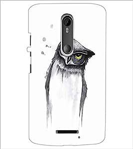 MOTOROLA MOTO X3 OWL Designer Back Cover Case By PRINTSWAG