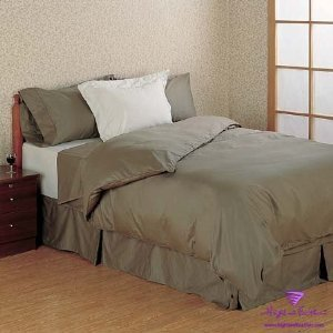 Navy Twin Extra-Long Fitted Sheet - 300Tc 100% Egyptian Cotton Solid Color 39X80+17'' front-1028556