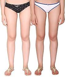 Vivity Multi Cotton Assorted Panties Pack of 2