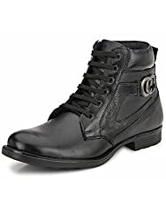 Mactree Mens Black Leather Boots-7040-6