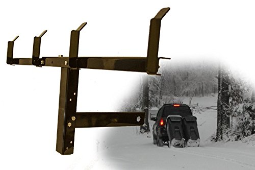 Dual can receiver mounted garbage hauling device for towing wheeled trash bins to the road- Garbage Hook (Trash Can Hauler compare prices)
