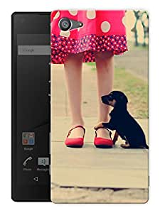 """Humor Gang Puppy With A Girl Printed Designer Mobile Back Cover For """"Sony Xperia Z5 Mini - Compact"""" (3D, Matte, Premium Quality Snap On Case)"""