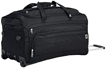 Delsey Luggage Helium Superlite Spinners Trolley Duffel, Black, One Size