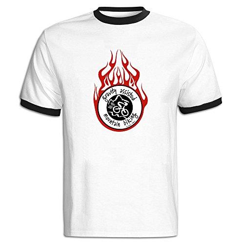 Gravity Logo Man's Short Sleeve Shirts Men Morden