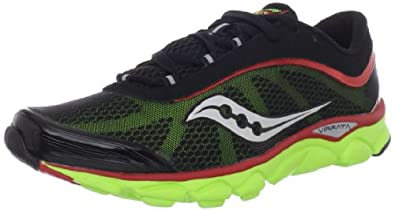 Saucony Men's Virrata Running Shoe,Black/Red/Citron,9 M US