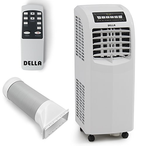 Della 8,000 BTU Portable Air Conditioner Cooling Fan Dehumidifier A/C Remote Control + Window Vent Kit, White (Air Conditioners compare prices)