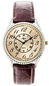 LUCH Analog Quartz Movement Leather Band Men's Wristwatch