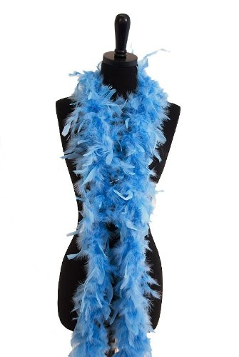 6' 60g Adult Feather Boa, Blue