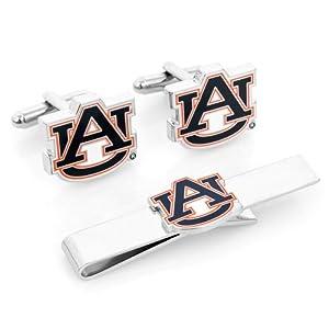 NCAA Cufflinks and Tie Bar Gift Set NCAA Team: Auburn University Tigers by Cufflinks Inc.