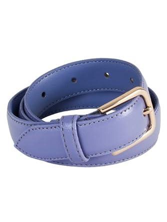 American Apparel Unisex Basic Leather Belt - L Esprit / Gold / XL