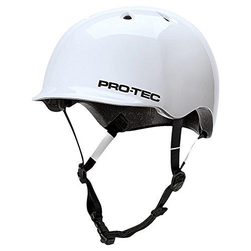 Pro-tec Riot Street Gloss Skateboard Helmet, White, Small