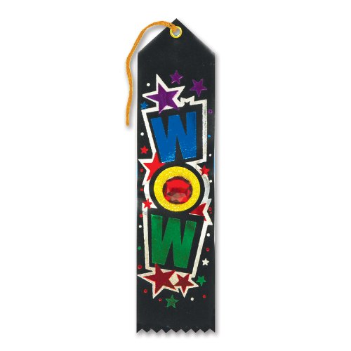 "Wow Jeweled Ribbon 2"" x 8"" Party Accessory"