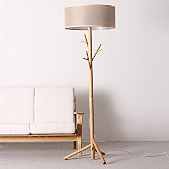 OAKLIGHTING Modern Tree Branch Wood Floor Lamps Lights Wooden Coat Rack Stand Lighting Height 68""