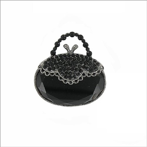 Oval Shape Purse Design W Stone Pin #019120