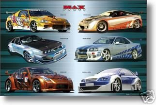 max-power-nissan-racing-cars-poster-collage-di-nuova