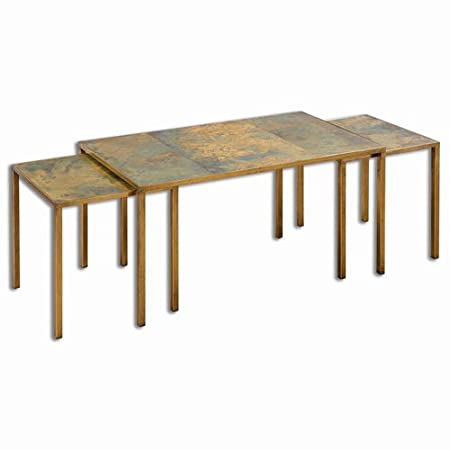 Uttermost Couper Oxidized Nesting Coffee Tables - Set of 3