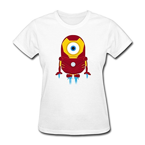 Personalized Iron Man Minions-4 T-shirt For Woman Personalized