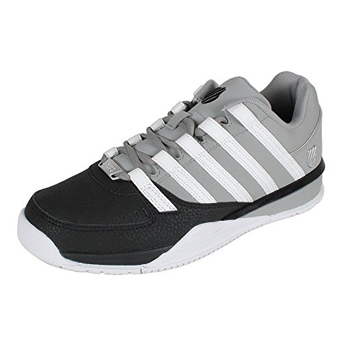 K-Swiss Herren Baxter Sneakers, Schwarz (Black/Neutral Gray/White), 44.5 EU thumbnail