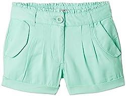 Nauti Nati Girls' Shorts (NSS15-457_Turquoise_4 - 5 years)