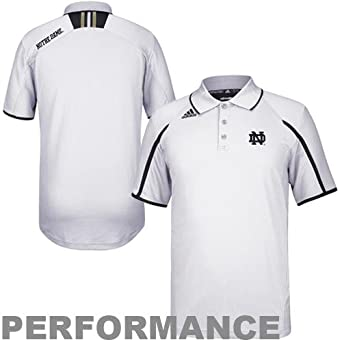 Notre Dame Fighting Irish Adidas Climalite Sideline Polo -White by adidas