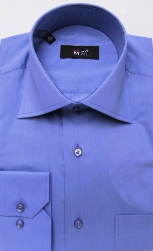 MUGA mens shirts for Casual and Formal, Orchid, Size M