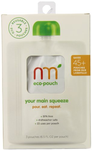 NurturMe Squeeze Reusable Eco-Pouch, 3 Count (Pack of 10)