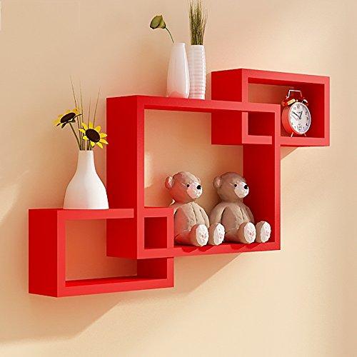 flashing-lights-Wandregal-dekorativen-Rahmen-Hintergrund-kreative-Wohnzimmerwand-Gitter-farbe-Rot