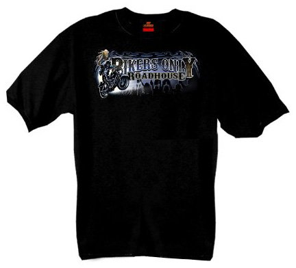 Hot Leathers Biker Roadhouse Short Sleeve Tee (Black, Large)