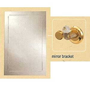 Brushed Nickel Bathroom Mirror on Aquabrass 123bn Brushed Nickel Bathroom Accessories Rectangular Mirror