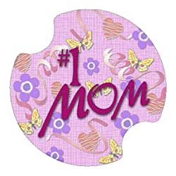 #1 Mom Carsters, Coasters For Your Car