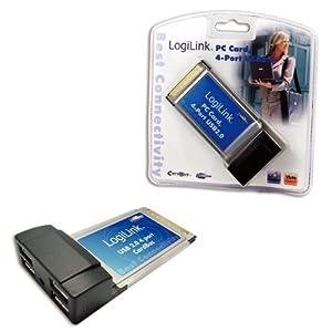 LogiLink - 4 x USB 2.0 auf PCMCIA Cardbus Controller - PC0040 [PC]