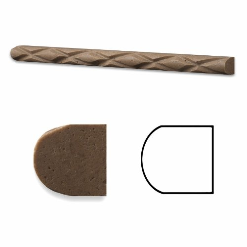 Noce Travertine Honed 1 X 12 Diamond Rope Liner Trim Molding - 4