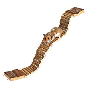 Suspension Bridge Wooden Hamster Gerbil Cage Pet Ladder