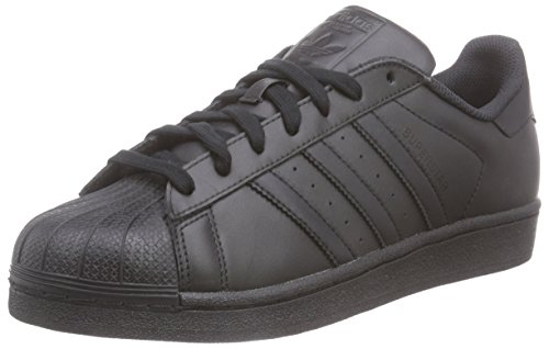 Adidas - Superstar Foundation, Sneakers da uomo, Nero (BlackBlack), 43 1/3