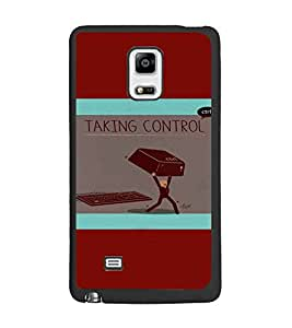 PrintDhaba Funny image D-4979 Back Case Cover for SAMSUNG GALAXY NOTE EDGE (Multi-Coloured)