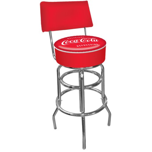 Trademark Global Coca-Cola Vintage Pub Stool with Back
