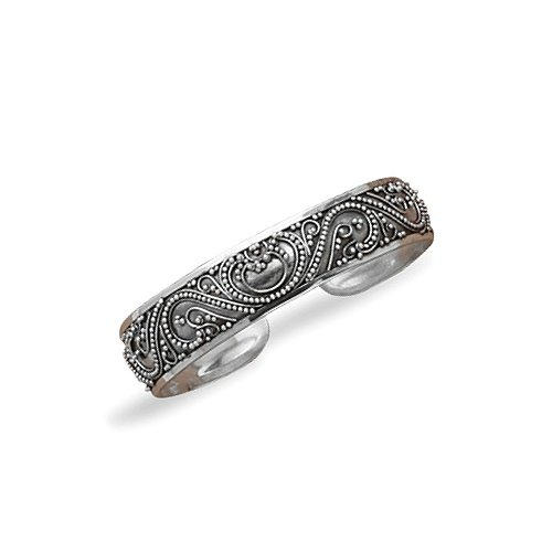Ethnic Balinese Sterling Silver Cuff Bracelet