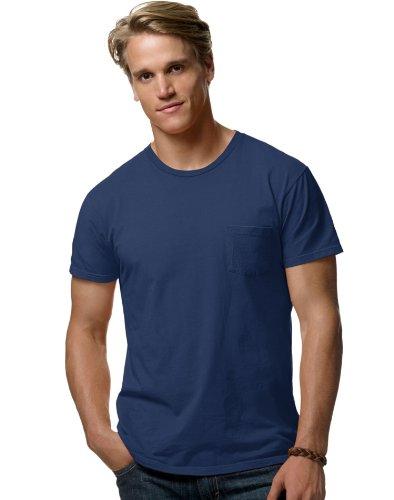 hanes-498p-100-ringspun-cotton-nano-maglietta-vintage-navy-medium