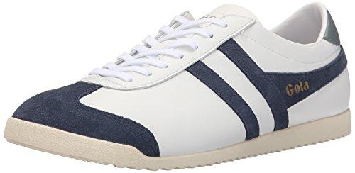 Gola Men's Bullet Leather Fashion Sneaker,  White/Navy, UK 9/US 10