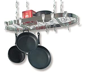 Concept Housewares Oval Stainless Steel Pot Rack by Concept