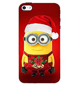 PrintDhaba FATTY CHRISTMAS D-7089 Back Case Cover for APPLE IPHONE 4S (Multi-Coloured)